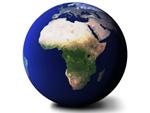 Weltkugel Afrika