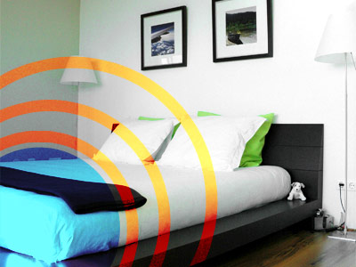 Schlafzimmer mit Strahlung