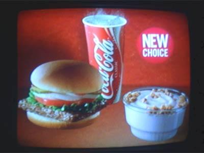 fastfood Reklameschild