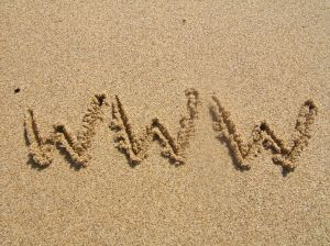 WWW im Sand