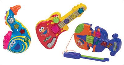 Sesamstraße Kleine Musikinstrumente