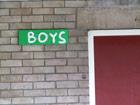Toilettenschild Boys